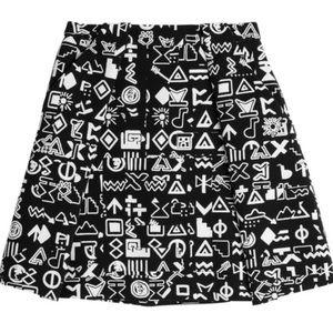 Kenzo Graphic Print Skirt Black&White